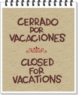 closed por vacaciones