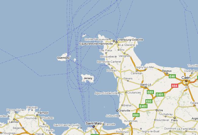 mapa Guernsey