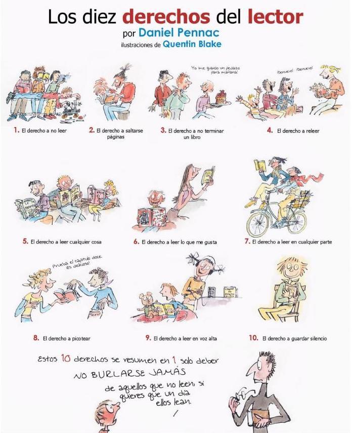 10 Derechos del Lector, Pennac