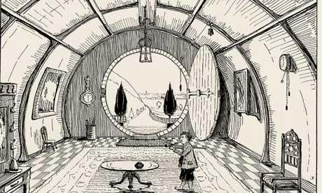 Dibujo de Tolkien, quien además era muy bueno ilustrando