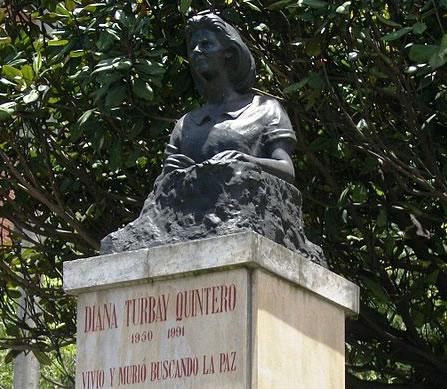 Busto de Diana Turbay en Bogotá