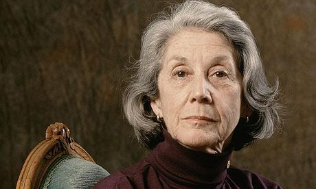 Nadine Gordimer, la autora.