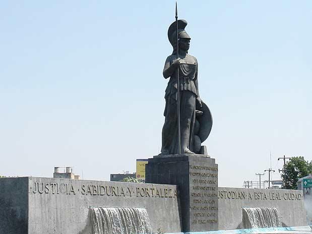 Estatua de la Minerva. Ciudad de Guadalajara, México.