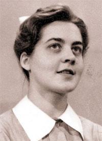 La autora, en sus días como enfermera.