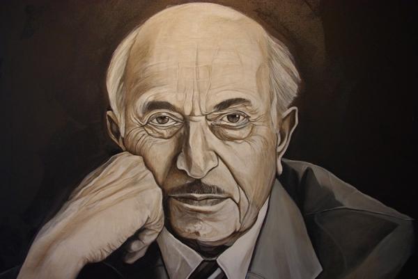 Simon Wiesenthal por Crhistian Charriere. Dedicaría el resto de su vida a llevar a juicio a criminales nazis.