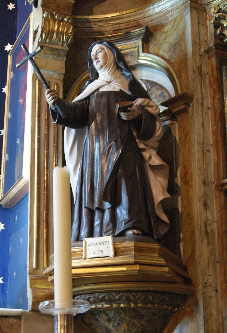 Retablo de Edith Stein en la Iglesia del Santo Angel en Sevilla. Álvarez Duarte, año 2000.