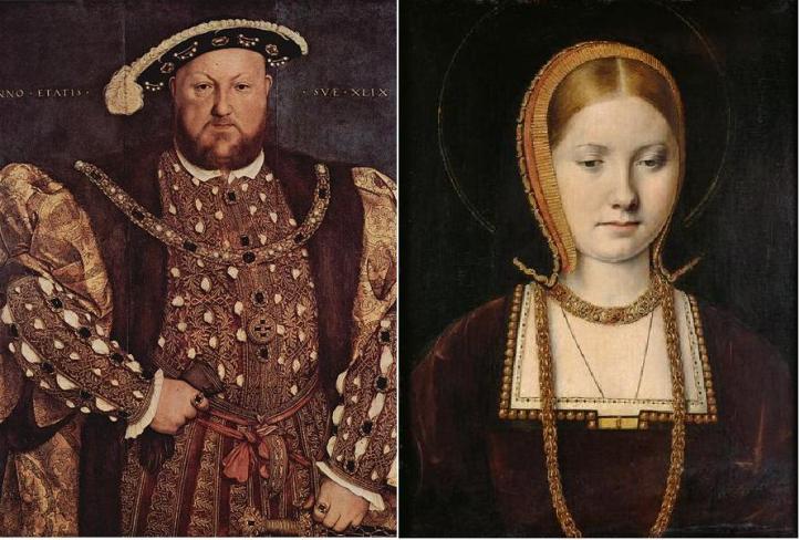 Enrique VIII y Catalina de Aragón.