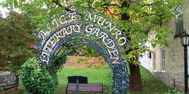 """En Huron, Canada, tienen un """"Jardín Literario Alice Munro"""" para recordar los logros literiarios de Munro."""