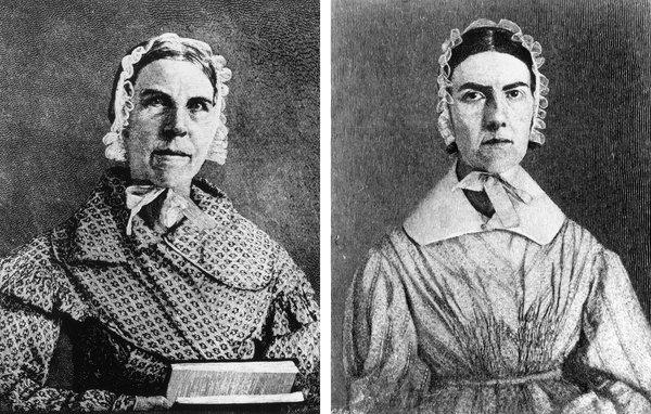 Hermanas Grimké. Sarah recibió a su propia esclava como regalo de 11 años.