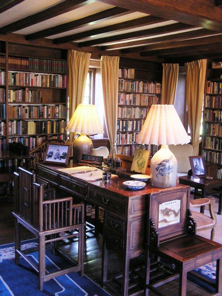 Despacho de Pearl S. Buck en su casa de Pensilvania.