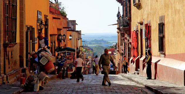 Calles empedradas de San Miguel Allende