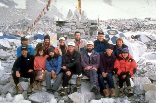 Equipo de Adventure Consultants, donde iba Krakauker.