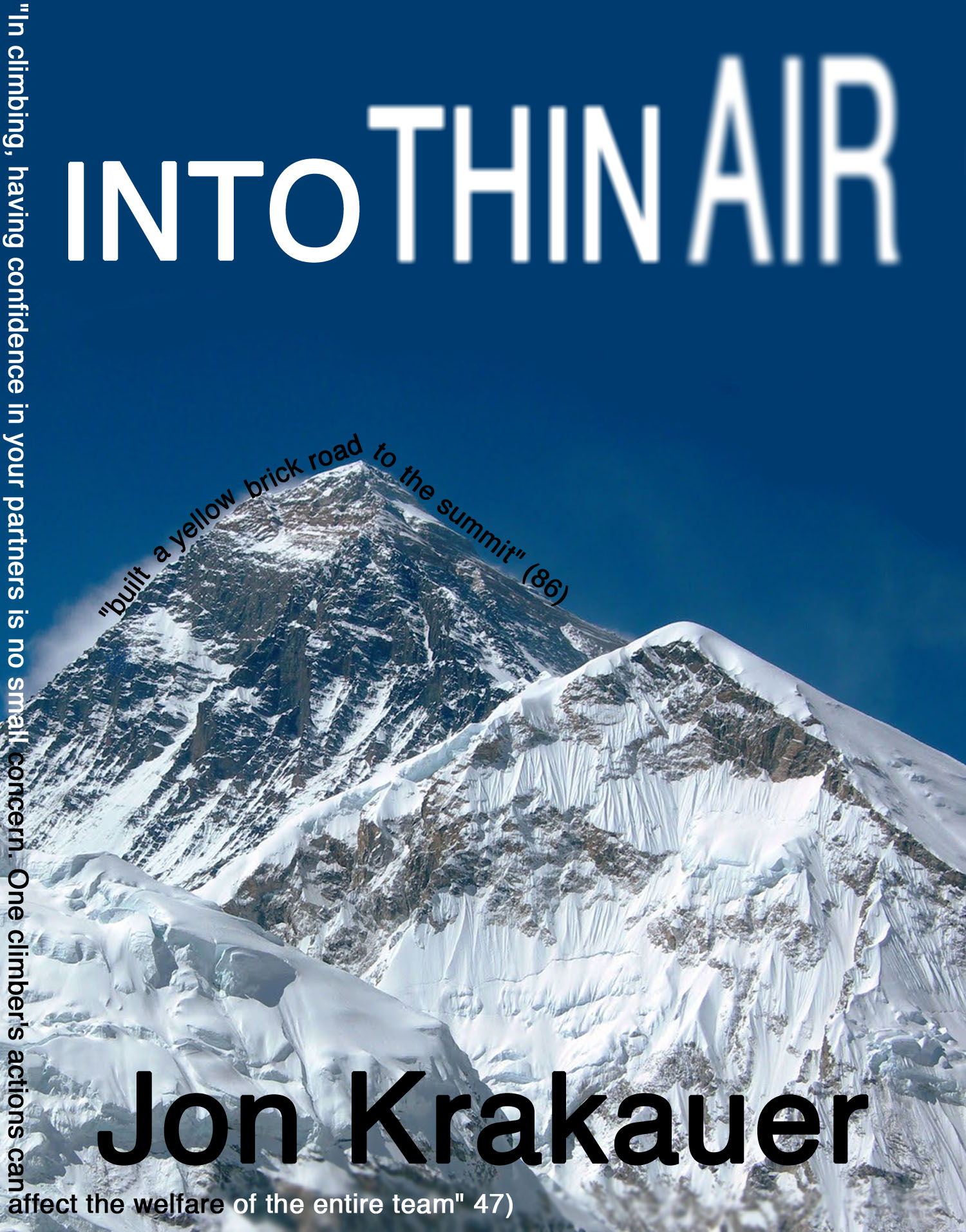 top man and into thin air Into thin air questions and answers the question and answer section for into thin air is a great resource to ask questions, find answers, and discuss the novel.