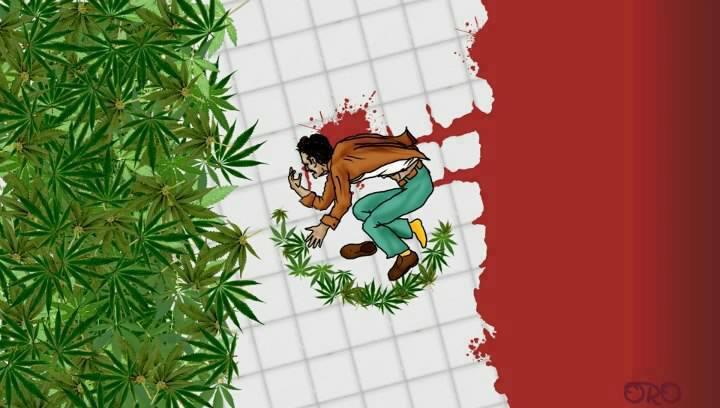 Imagen tomada de: http://pikdit.com/i/a-grim-take-on-the-mexican-flag/