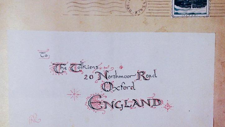 Ejemplo de uno de los sobres donde llegaban las cartas.