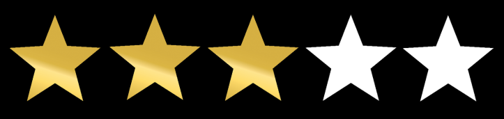 3 out of 5 stars