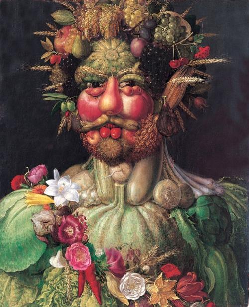 Emperador Rodolfo II pintado por Guissepe Arcimboldo.