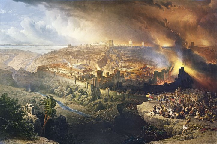 Destrucción de Jerusalén por Robert Davies.