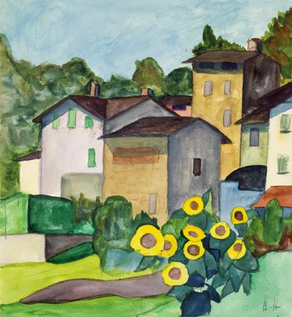 Sonnenblumen in Montagnola  1927. Herman Hesse