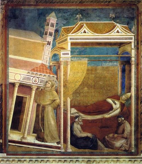 """Pintura de Giotto """"El sueño de Inocencio"""""""