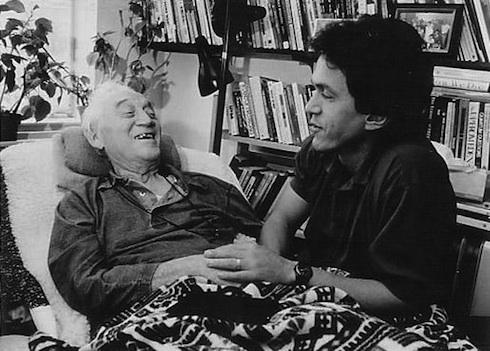 Morrie y el autor del libro.