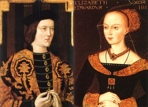 El rey Eduardo IV y la Reina Elizabeth Woodville.