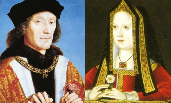 El matrimonio de Enrique Tudor e Isabel de York, terminaría con las riñas de las casas de la rosa roja y la rosa blanca.