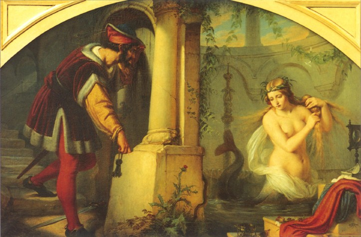 Pintura de Julius Hubner. Melusina, de quien se decía descendía Jaquetta.