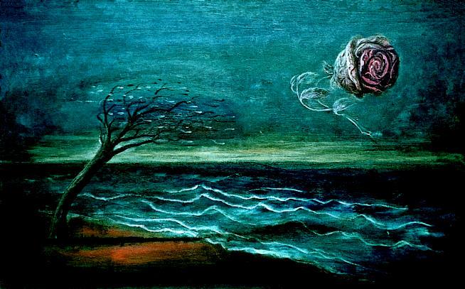 Rose im Sturm  de Edgar Ende.