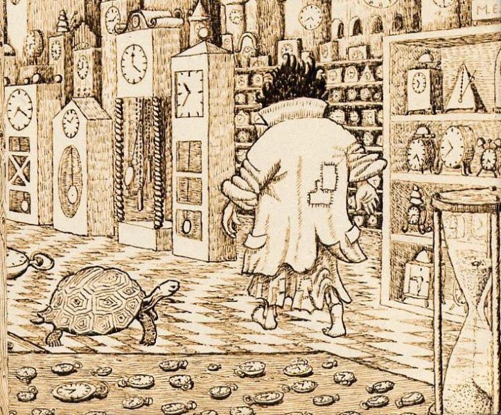 Ilustración hecha por Michael Ende para su libro.