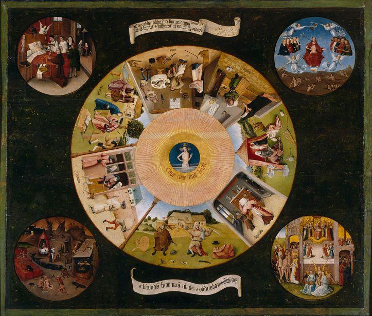 Los 7 pecados capitales, pintura de El Bosco.