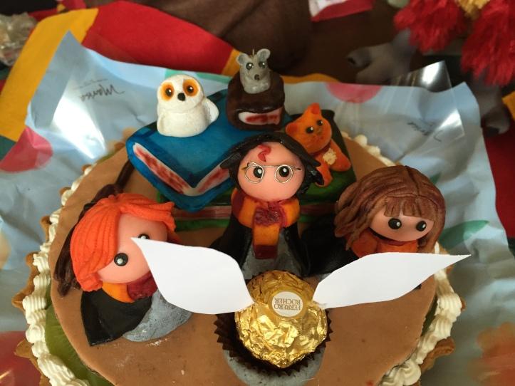 El pastel, que era una verdadera obra de arte salida de las manos de mi amiga Marce. ¡Gracias Marce!
