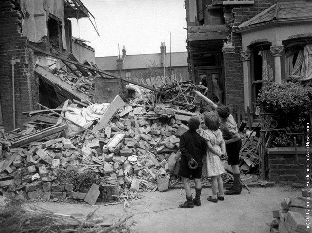 Londres durante el bombardeo.