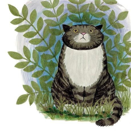 Judith también es ilustradora, y este es otro personaje de sus libros, Mog.