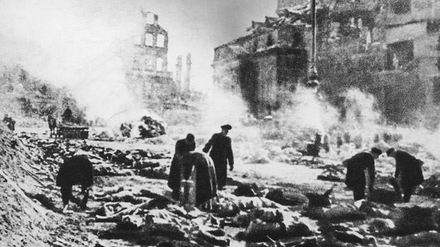La ciudad de Dresden después del bombardeo.