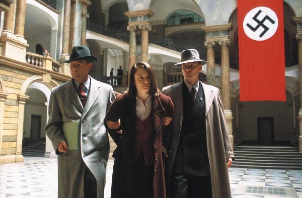 Escena de una película sobre Sophie Scholl.